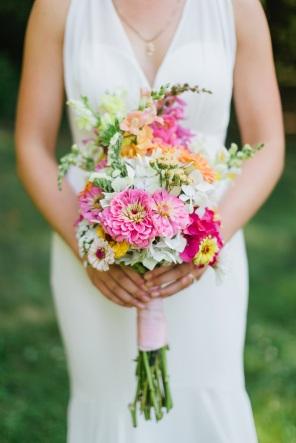 Bouquet made with Pumpkin Ridge Gardens flowers.