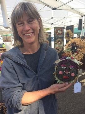 Polly at market 2015